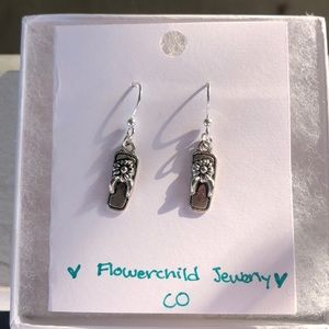 Handmade Dangling Flip Flop Earrings